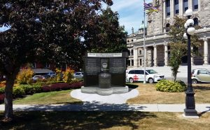 BCSAR MONUMENT - front view